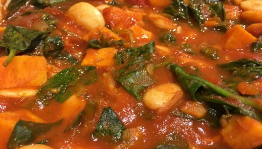 Video: Sweet Potato, Butter Bean and Spinach Stew | Recipe