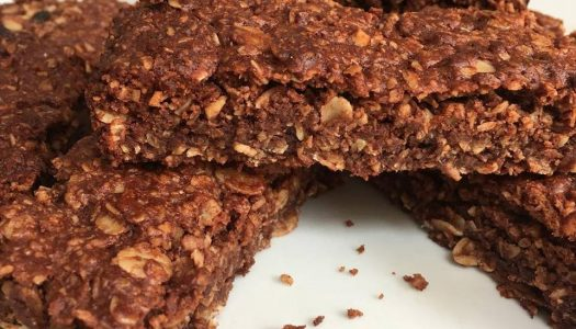 Sugarless Chocolate Oat Bar