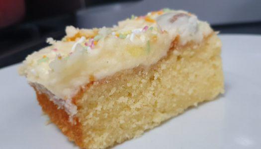 Vanilla Tray Bake Recipe